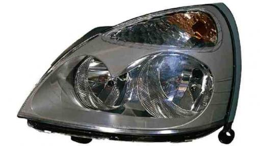 Renault  Clio Ii  (01->05) Derecho-faro Principal-eléctrico Fondo Gris  Grey Mask  H7+h1
