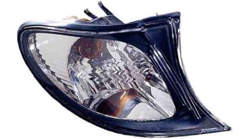 Bmw  Serie 3  E46  4p / Touring  (01->05) Izquierdo-piloto Delantero-sin Portalámparas-transparente Cerco Negro  Black Frame