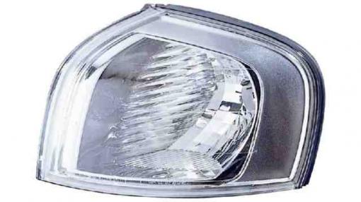 Volvo  S80  (98->03) Izquierdo-piloto Delantero-con Portalámparas-transparente Fondo Plata  Silver Mask