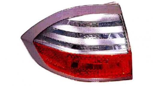 Ford  S-max  (06->10) Izquierdo-piloto Trasero-sin Portalámparas-blanco-rojo-exterior