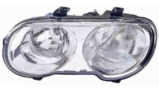 Rover  25  (99->04) Izquierdo-faro Principal-eléctrico Fondo Cromo  Chromed Mask  H7+h1