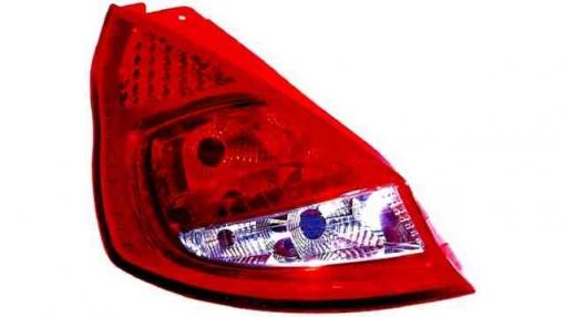 Ford  Fiesta Mk7  3/5p  (08->) Derecho-piloto Trasero-sin Portalámparas-blanco-rojo