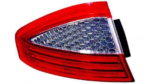 Ford  Mondeo Iv  4p  (07->) Izquierdo-piloto Trasero-sin Portalámparas-blanco-rojo-exterior