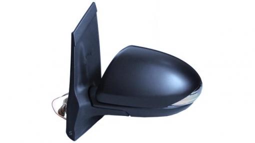 Mazda 2 (07=>10)derecho-espejo Completo-eléctrico-con Vexo-térmico-imprimado-abatible-intermitente
