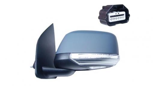 Nissan Navara (07=>)izquierdo-espejo Completo-eléctrico-con Vexo-imprimado-intermitente-luzsuelo 12 Pines