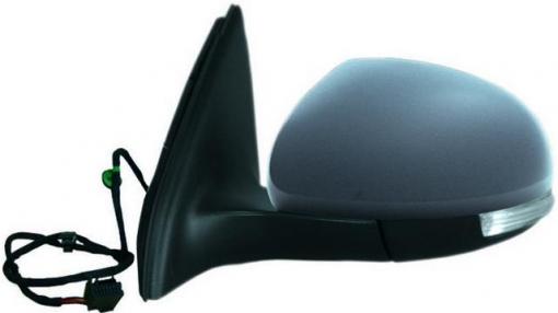 Vw Tiguan (07=>)izquierdo-espejo Completo-eléctrico-asférico-térmico-imprimado-intermitente