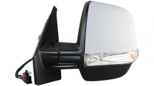 Fiat Dobló (10=>)derecho-espejo Completo-eléctrico-con Vexo-térmico-imprimado-intermitente-sonda Doble 8 Pines
