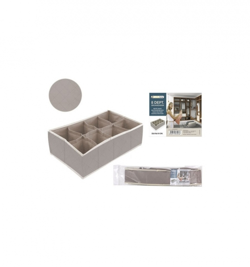 Organizador Cajon 8 Depart. 32x16x10cm - Confortime - By05029967076