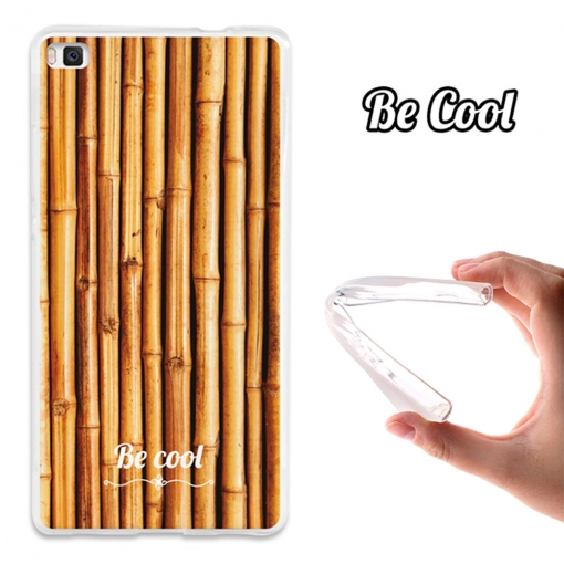 Funda Gel Huawei P8 Lite Becool Natural Bamboo