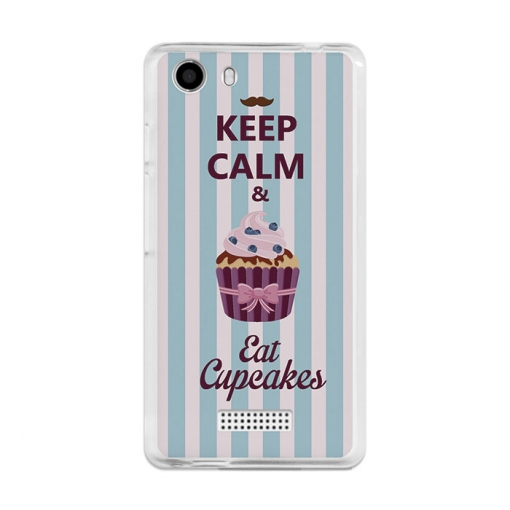Funda Gel Wiko Bloom 2 Becool Keep Calm And Eat Cupcakes