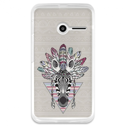 Funda Gel Vodafone Smart First 6 Becool Cebra Azteca