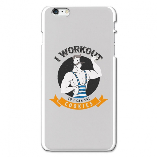 Funda Gel Iphone 6s Plus & 6 Plus Becool I Workout So I Can Eat Cookies