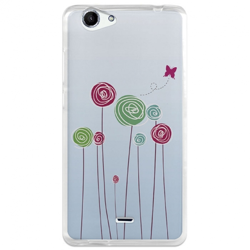 Funda Gel Wiko Pulp Fab Becool Baby On Board Flores