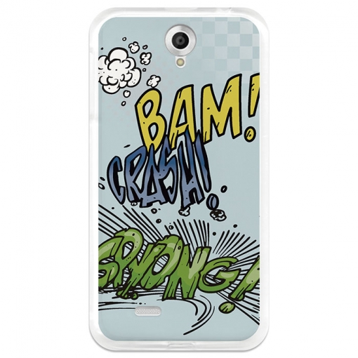 Funda Gel Lenovo A850 Becool Comic Style Crash