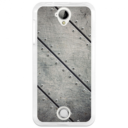 Funda Gel Acer Liquid Z330 Becool Placas Metal Remaches