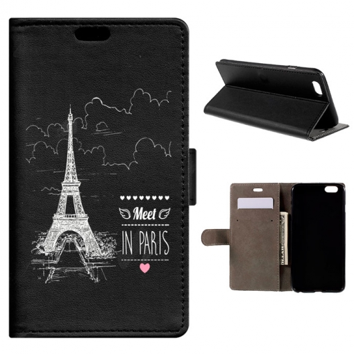 Funda Carcasa Tipo Libro Para Iphone 6s Plus & 6 Plus Encuentro En Paris - Becool®