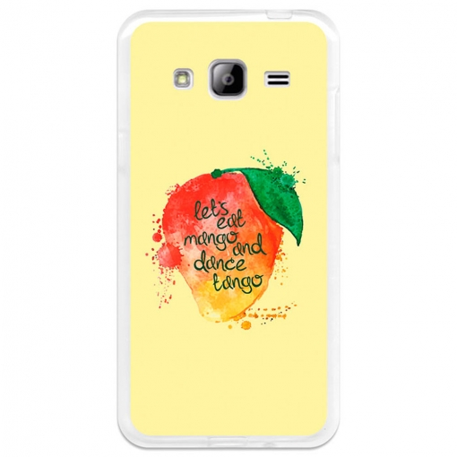 Funda Gel Samsung Galaxy J3 Becool Eat Mango And Dance Tango
