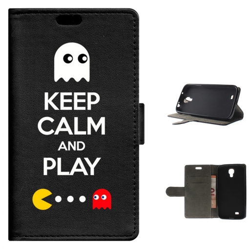 Funda Carcasa Tipo Libro Para Samsung Galaxy S4 Keep Calm And Play - Becool®