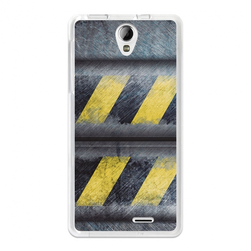 Funda Gel Flexible Tpu Para Cubot S350 Metal Rayas Advertencia - Becool®