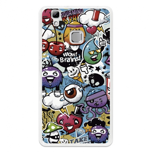 Funda Gel Flexible Tpu Para Doogee X5 Max Grafiti De Colores Divertido - Becool®