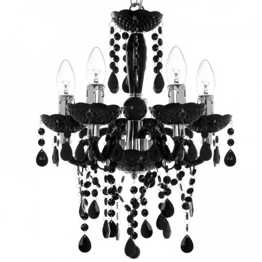 Lámpara Araña Negro