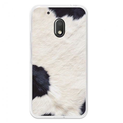 Funda Gel Flexible Tpu Para Motorola Moto G4 - G4 Plus Animal Print Vaca - Becool®