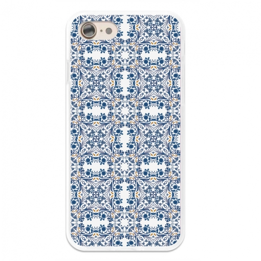 Funda Gel Flexible Tpu Para Iphone 7 Azulejos Portugueses Azules - Becool®