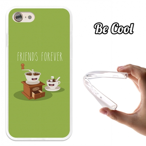 Funda Gel Flexible Tpu Para Iphone 7 Café Para Siempre - Verde - Becool®