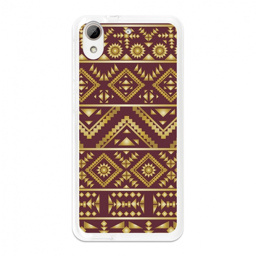 Funda Gel Flexible Tpu Para Htc Desire 626 Arte Azteca Dorado - Becool®