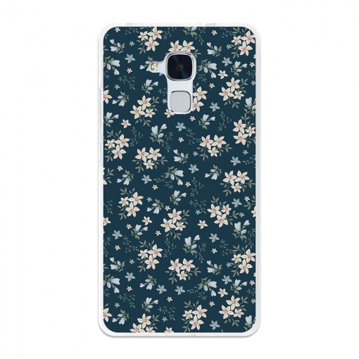 Funda Gel Flexible Tpu Para Huawei Honor 5c Flores Blancas - Becool®