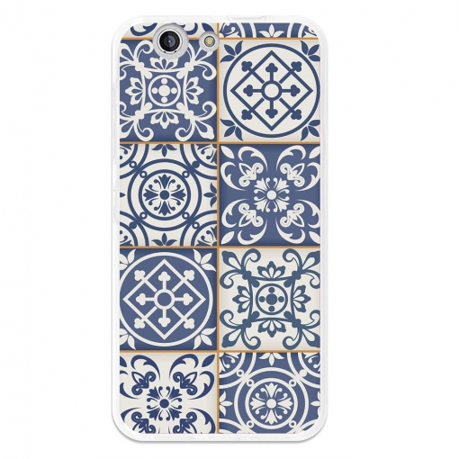 Funda Gel Flexible Tpu Para Zte Blade A512 Azulejos Marroquíes Azules - Becool®
