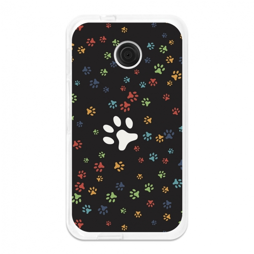 Funda Gel Flexible Tpu Para Vodafone Smart Mini 7 Huellas De Perro - Becool®