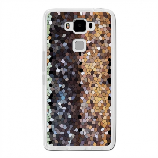 Becool® - Fundas Gel Mosaico Madera Abstracto Para Archos Diamond 2 Plus