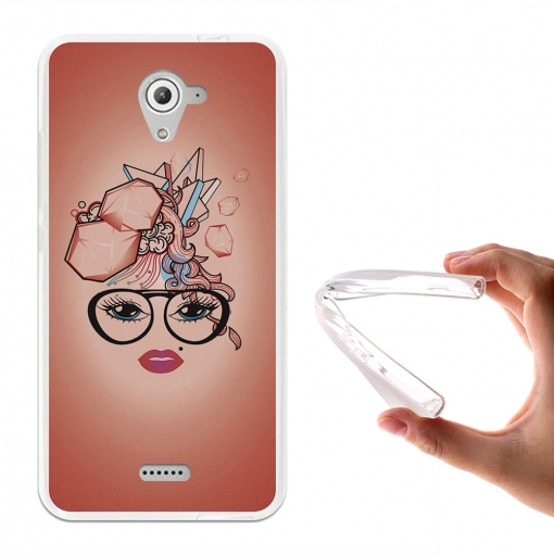 Becool® - Fundas Gel Corte De Pelo Abstracto Para Wiko U Feel Fab