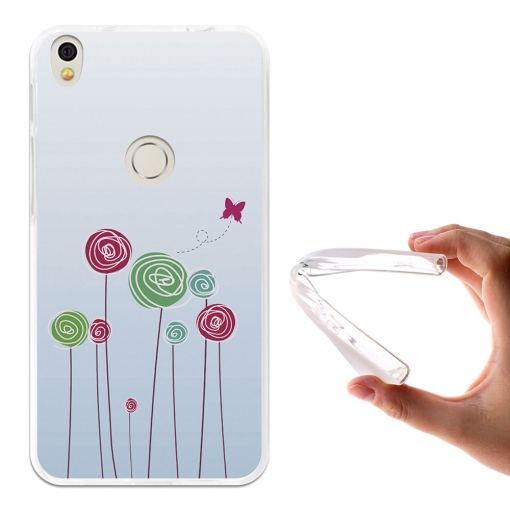 Becool® - Fundas Gel Baby On Board Flores Para Alcatel Shine Lite