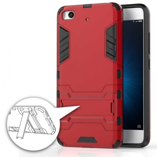 German Tech  - Carcasa Cool Shield Rojo Para Xiaomi Mi 5s