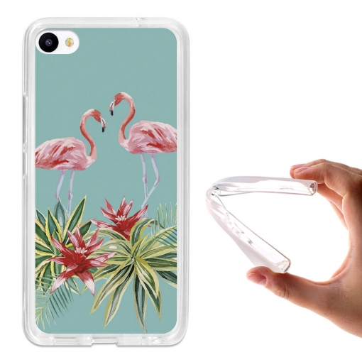Funda Gel Flexible Tpu Para Meizu U20 Verano Flamingo - Becool®