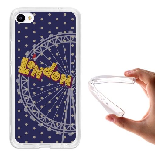 Funda Gel Flexible Tpu Para Meizu U20 London Eye - Becool®