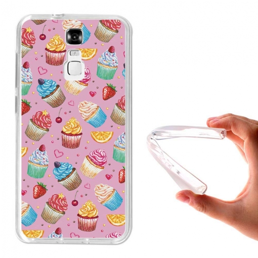 Funda Gel Flexible Tpu Para Zte Blade A610 Plus Cupcakes Y Frutas - Becool®