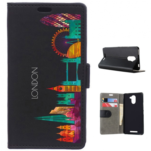 Becool®   Funda Libro Skyline Londres Para Bq Aquaris U Plus | Las