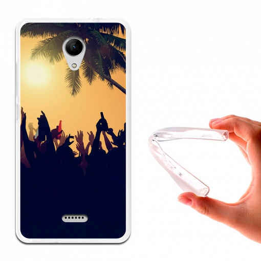 Becool ® - Funda Gel Fiesta En La Playa Para Wiko Freddy