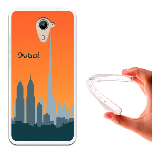 Becool ® - Funda Gel Skyline Dubai Para Wiko U Feel Prime