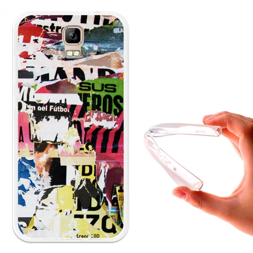 Becool ® - Funda Gel Collage De Carteles Para Umi Rome - Rome X