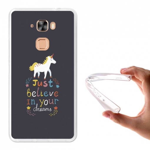 Becool ® - Funda Gel Just Believe In Your Dreams Para Hisense E76
