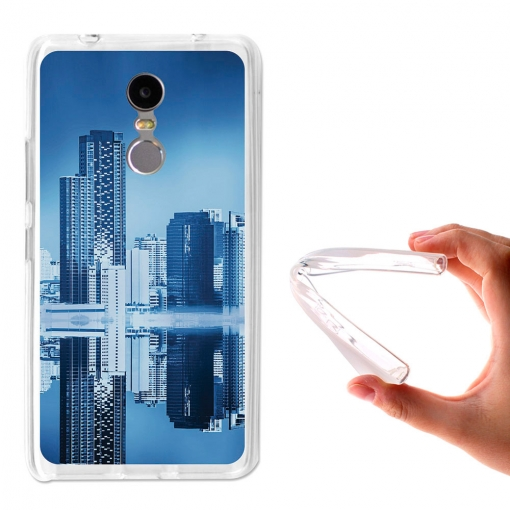 Becool ® - Funda Gel Skyline Edificios Para Lenovo K6 Note