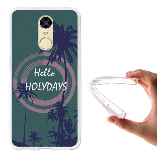 Becool ® - Funda Gel Hola Vacaciones Para Huawei Enjoy 6