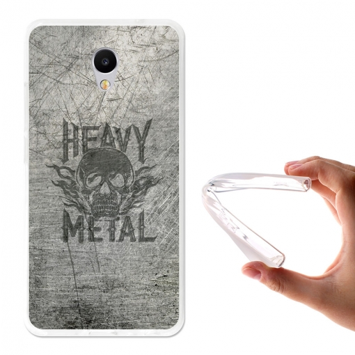 Becool ® - Funda Gel Heavy Metal Para Meizu M5 Note