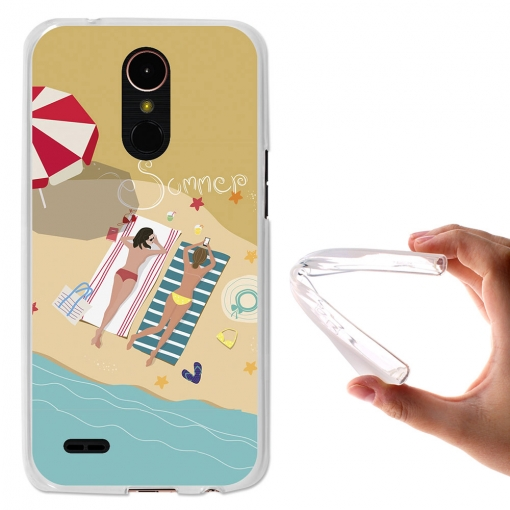 Becool ® - Funda Gel Verano En La Playa Para Lg K10 2017