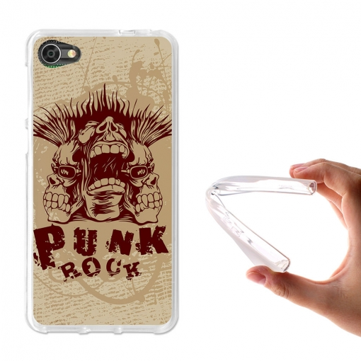 Becool ® - Funda Gel Punk Rock Para Alcatel A5 Led