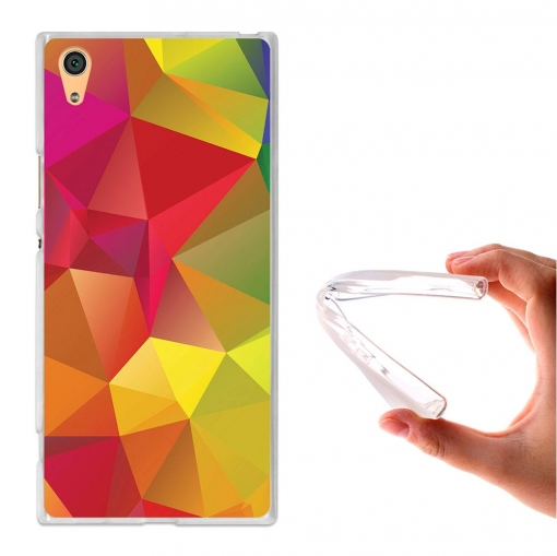 Becool ® - Funda Gel Triángulos 3d Colores Para Sony Xperia Xa1 Ultra